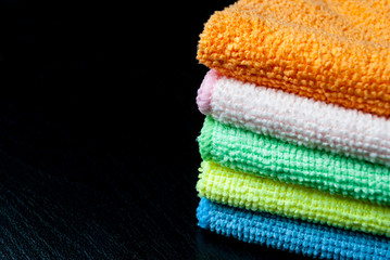 Stack of towels.