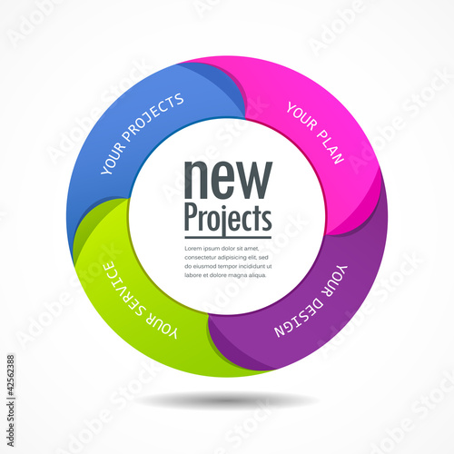 Design colorful projects circle vector illustration