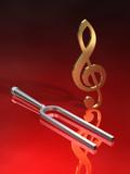 Violinschlüssel Stimmgabel R