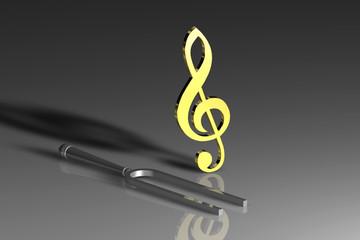 Stimmgabel Violinschlüssel GR