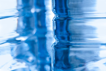Abstract plastic bottle background