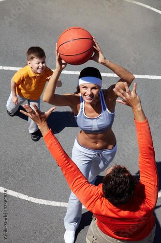 Family basketball