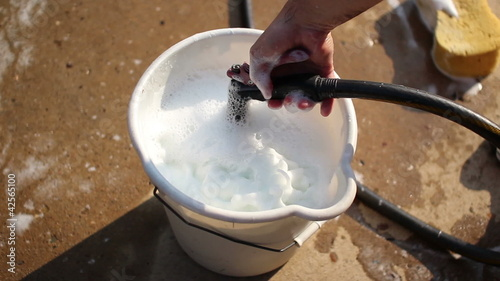 Filling Wash Bucket