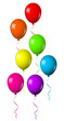Vector illustration of colorful shiny balloons
