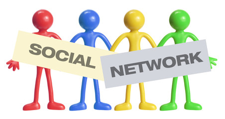 Rubber Figures with social Network Concept