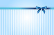 Vector blue background with bow