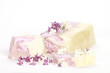 Handmade lilac Soap closeup.Spa products