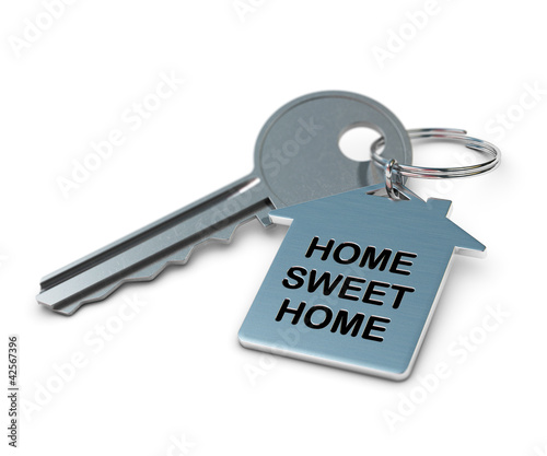 key and keyring, home sweet home concept