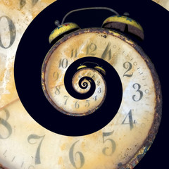 Infinite Old Rusty Clock