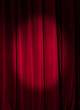 Red curtain  a