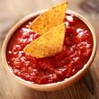 Tortilla Chips mit Salsa dip - Makro