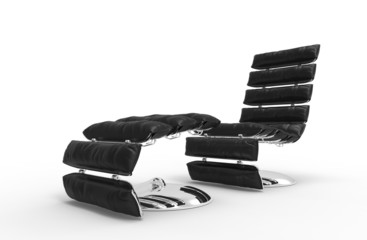 Modern Leather Relaxing Armchair 1