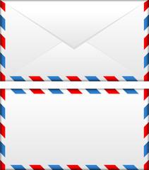 Vector illustration of airmail envelope