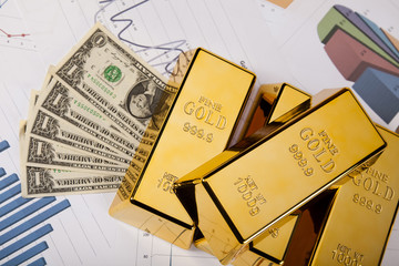 Financial indicators,Chart,Gold bar,money