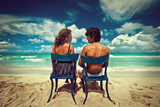 Loving couple in the Caribbean