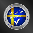 made in sweden metallic vector button