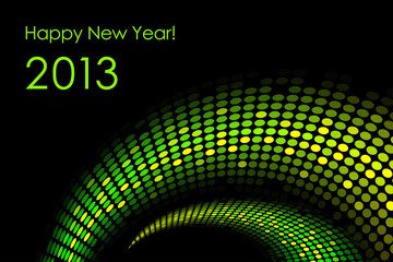 "Happy New Year ""snake"" background (2013-year of the snake)"