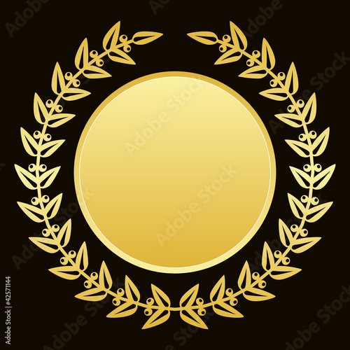 Vector background with gold laurels