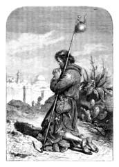Medieval : Pilgrim - Pelerin - Pilger