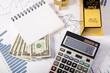 Financial indicators,Chart,Gold bar,money