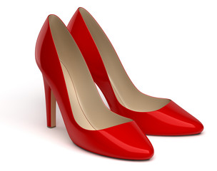 Chaussures à talon sur fond blanc 2