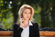 Detaily fotografie Businesswoman calling on the phone