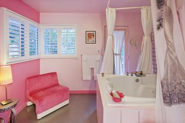 Luxurious bathroom interior design
