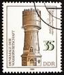 Postage stamp GDR 1986 Berlin Altglienicke Water Tower