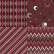 Set of four seamless background patterns