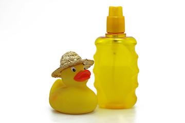 sonnenschutz mit badeente