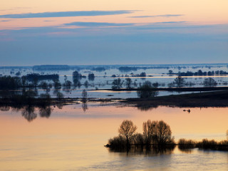 Spring flood on Oka River