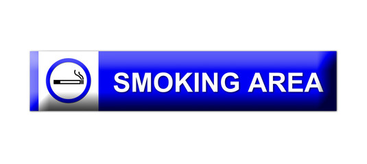 3D smoking area sign on white