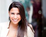 Beautiful woman smiling