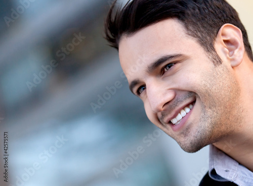 Happy handsome man