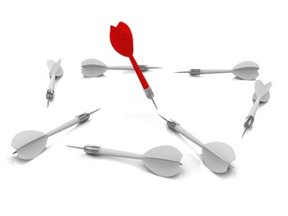 Success concept. 3d illustration.