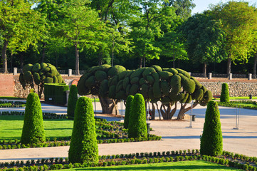 The Park Retiro in Madrid,Spain.