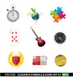Web and creative graphic symbols set