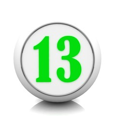 3d button with number