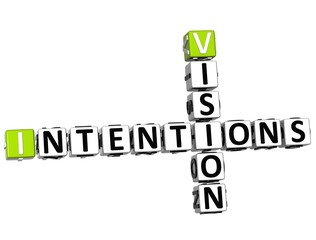 3D Vision Intentions Crossword