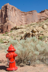 Fire hydrant at Arches National Park