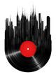 Leinwandbild Motiv Vinyl city