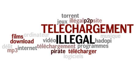 Nuage de Mots : Téléchargement Illégal 2