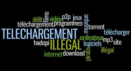 Nuage de Mots : Téléchargement Illégal