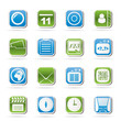 Mobile Phone and communication icons - vector icon set