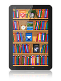 Bookshelf in tablet computer