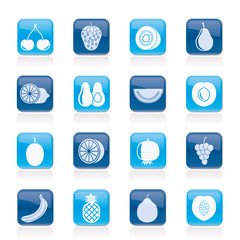 Different kind of fruit and  icons - vector icon set