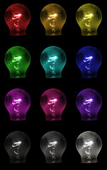 Coloured lamps