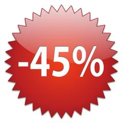 sticker red percentage 45