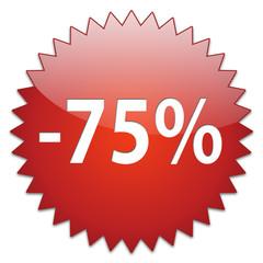 sticker red percentage 75
