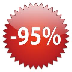 sticker red percentage 95